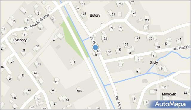 Rzyki, Osiedle Haczki, 31, mapa Rzyki