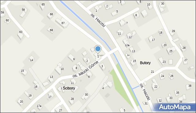 Rzyki, Osiedle Młocki Górne, 1, mapa Rzyki