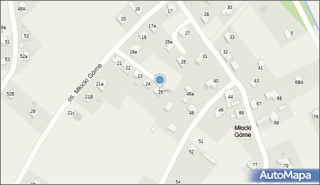 Rzyki, Osiedle Młocki Górne, 25, mapa Rzyki