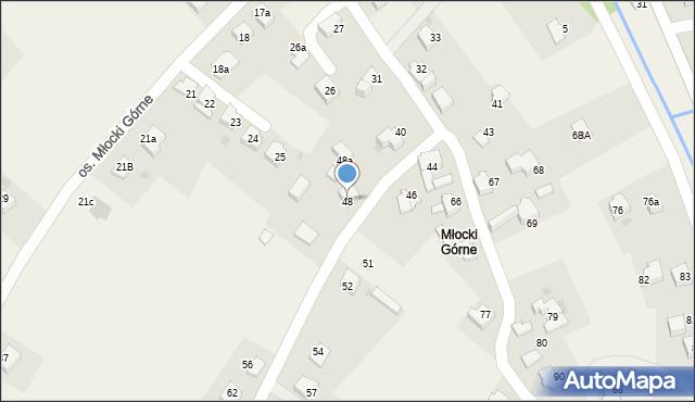 Rzyki, Osiedle Młocki Górne, 48, mapa Rzyki