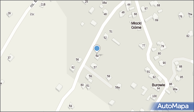 Rzyki, Osiedle Młocki Górne, 54, mapa Rzyki