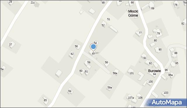 Rzyki, Osiedle Młocki Górne, 57, mapa Rzyki