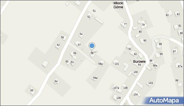 Rzyki, Osiedle Młocki Górne, 58, mapa Rzyki