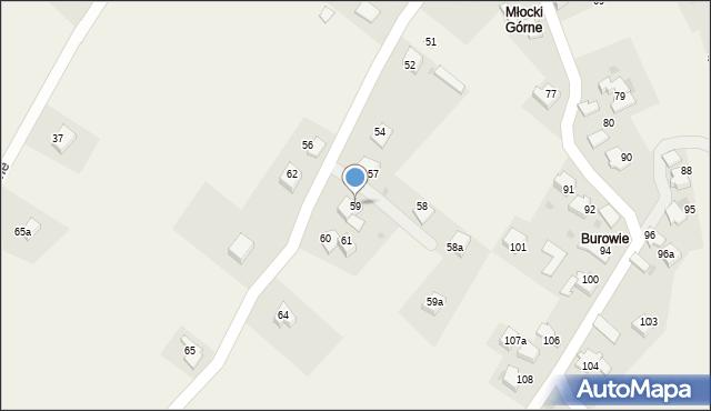 Rzyki, Osiedle Młocki Górne, 59, mapa Rzyki