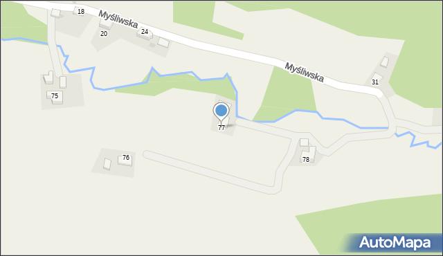 Rzyki, Osiedle Szafarze, 77, mapa Rzyki
