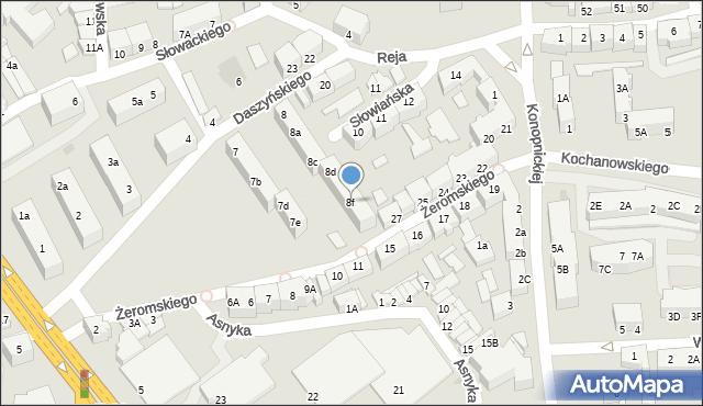 Słubice, Osiedle Słowiańskie, 8f, mapa Słubice