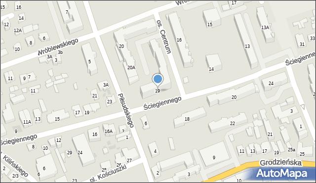 Sokółka, Osiedle Centrum, 19, mapa Sokółka