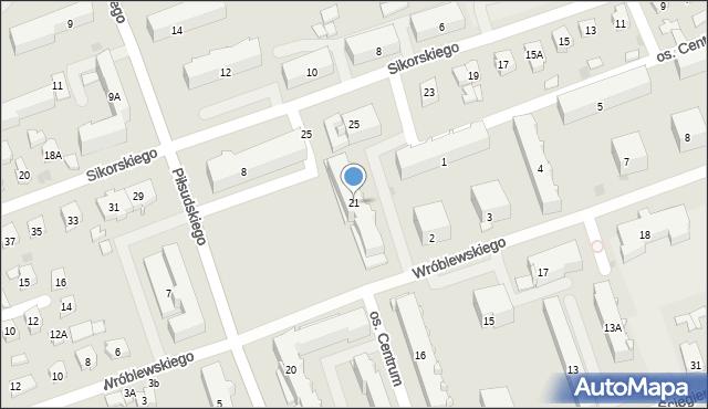 Sokółka, Osiedle Centrum, 21, mapa Sokółka