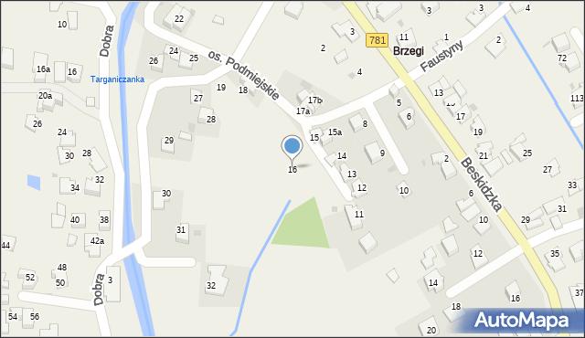 Targanice, Osiedle Podmiejskie, 16, mapa Targanice