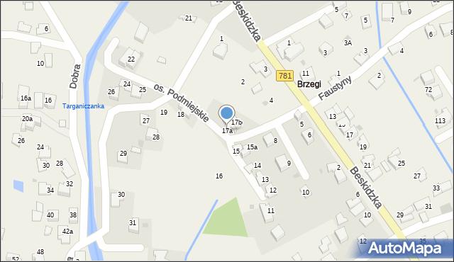 Targanice, Osiedle Podmiejskie, 17a, mapa Targanice