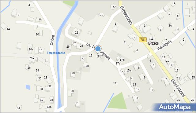Targanice, Osiedle Podmiejskie, 18, mapa Targanice