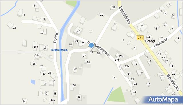 Targanice, Osiedle Podmiejskie, 19, mapa Targanice