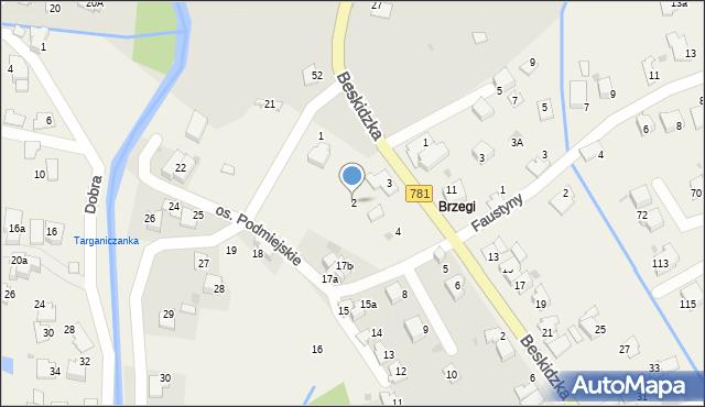 Targanice, Osiedle Podmiejskie, 2, mapa Targanice