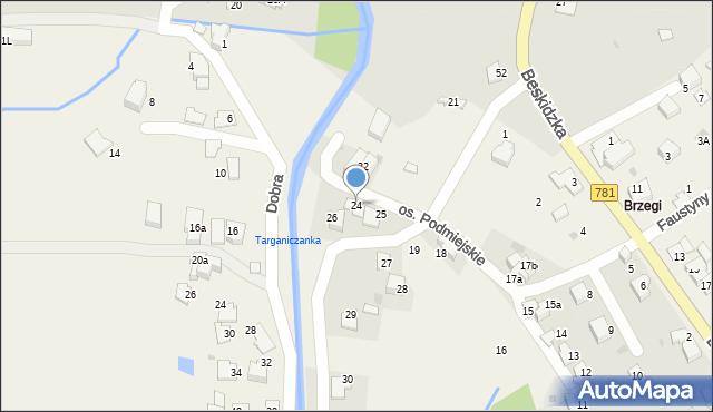 Targanice, Osiedle Podmiejskie, 24, mapa Targanice