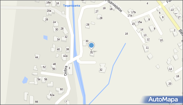 Targanice, Osiedle Podmiejskie, 31, mapa Targanice