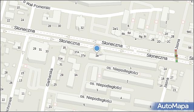 Tarnów, Osiedle Niepodległości, 1a, mapa Tarnów
