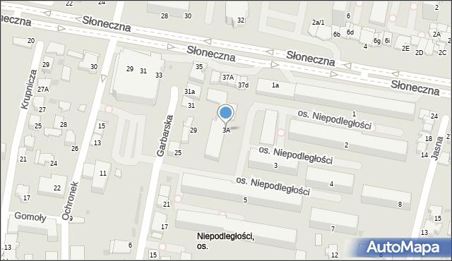 Tarnów, Osiedle Niepodległości, 3A, mapa Tarnów