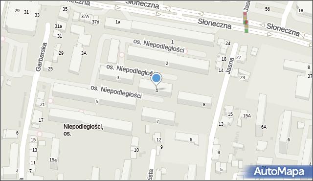 Tarnów, Osiedle Niepodległości, 4, mapa Tarnów