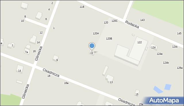 Toruń, Osadnicza, 11, mapa Torunia