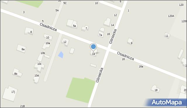 Toruń, Osadnicza, 14, mapa Torunia