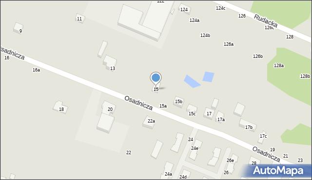 Toruń, Osadnicza, 15, mapa Torunia