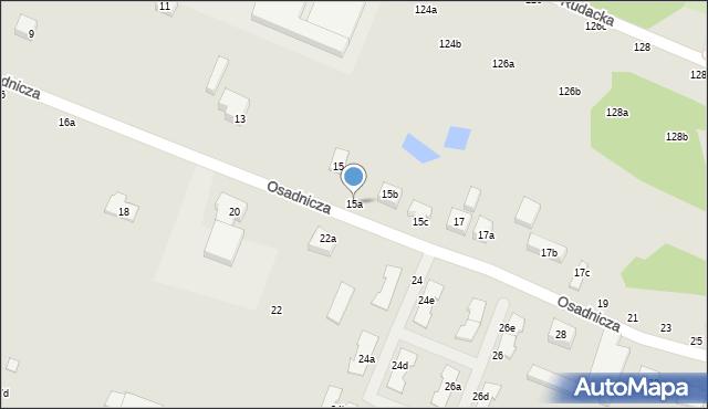Toruń, Osadnicza, 15a, mapa Torunia