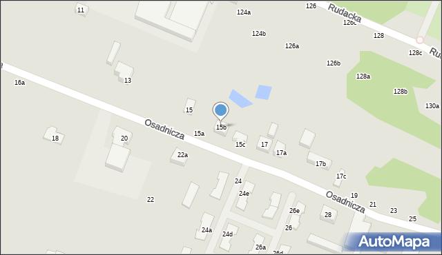 Toruń, Osadnicza, 15b, mapa Torunia