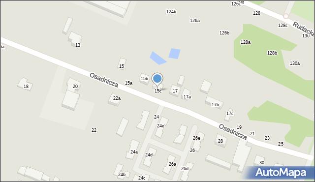 Toruń, Osadnicza, 15c, mapa Torunia