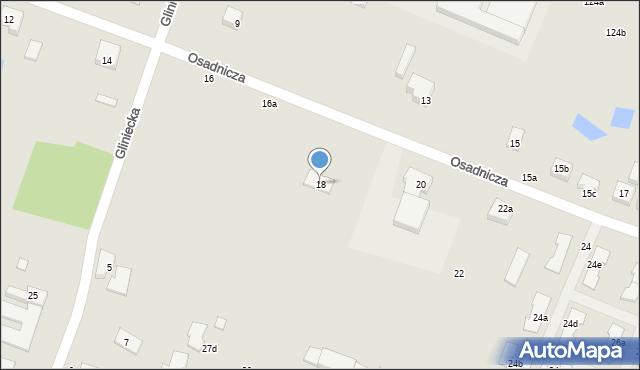 Toruń, Osadnicza, 18, mapa Torunia