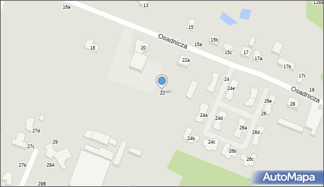 Toruń, Osadnicza, 22, mapa Torunia