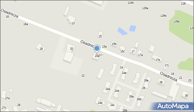 Toruń, Osadnicza, 22a, mapa Torunia