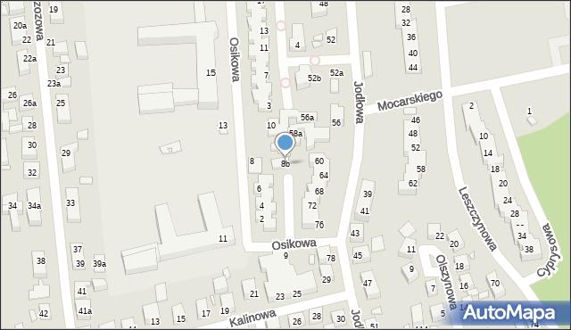 Toruń, Osikowa, 8b, mapa Torunia