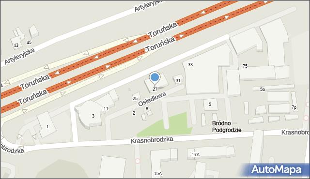 Warszawa, Osiedlowa, 27, mapa Warszawy