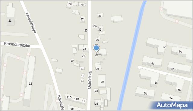 Warszawa, Ostródzka, 28, mapa Warszawy