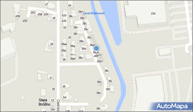Warszawa, Ostródzka, 38zf, mapa Warszawy