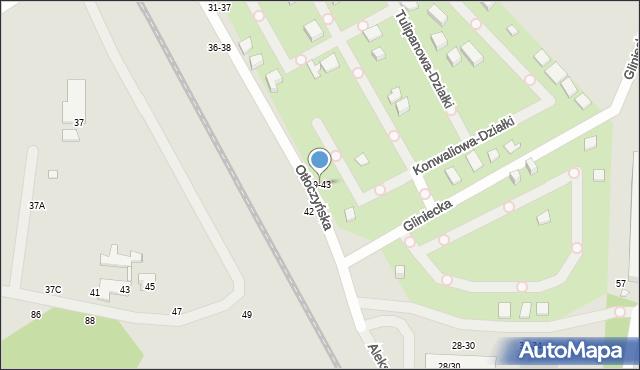 Toruń, Otłoczyńska, 39-43, mapa Torunia