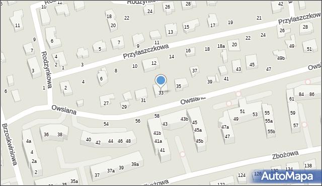 Toruń, Owsiana, 33, mapa Torunia