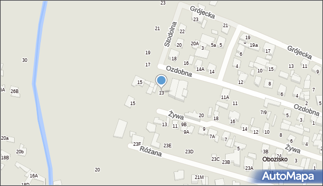 Radom, Ozdobna, 13, mapa Radomia