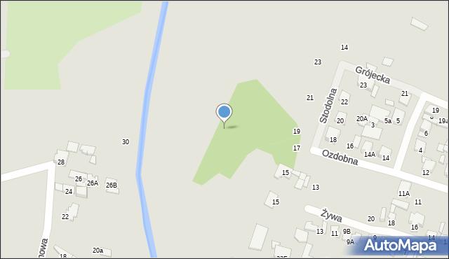 Radom, Ozdobna, 17, mapa Radomia