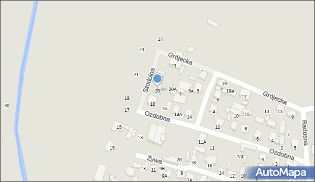 Radom, Ozdobna, 20, mapa Radomia