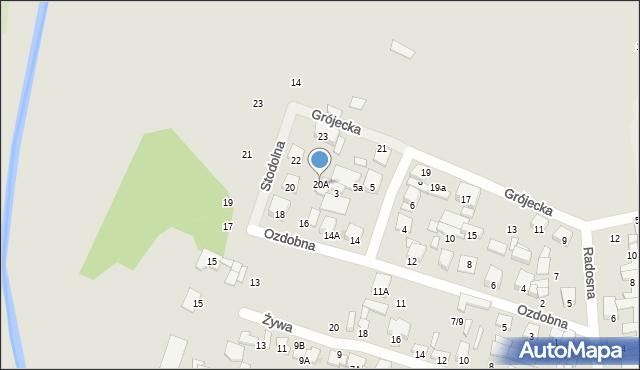 Radom, Ozdobna, 20A, mapa Radomia
