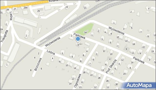 Andrychów, Parkowa, 4, mapa Andrychów