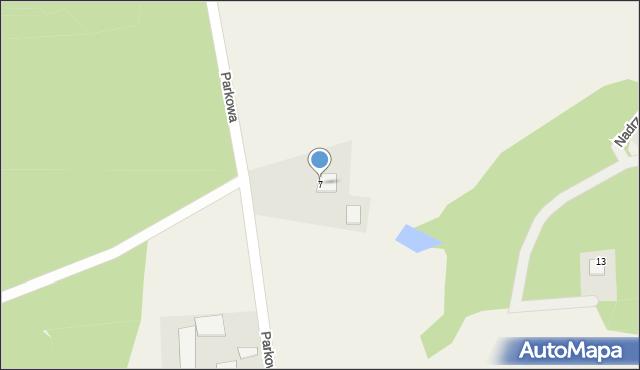Barłomino, Parkowa, 7, mapa Barłomino