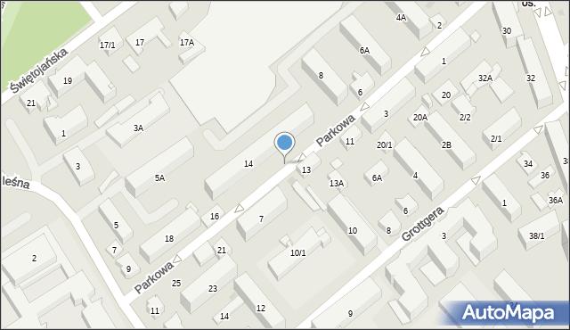 Białystok, Parkowa, 7a, mapa Białegostoku