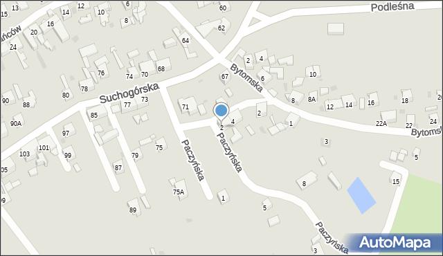 Bytom, Paczyńska, 2, mapa Bytomia