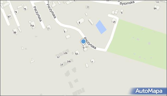 Bytom, Paczyńska, 3, mapa Bytomia