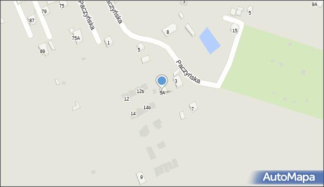 Bytom, Paczyńska, 5A, mapa Bytomia