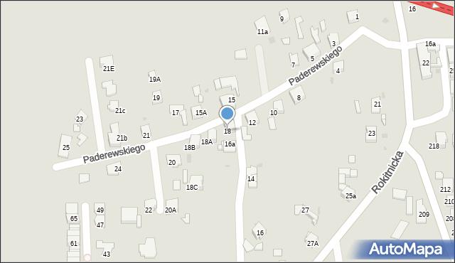 Bytom, Paderewskiego Ignacego Jana, 18, mapa Bytomia