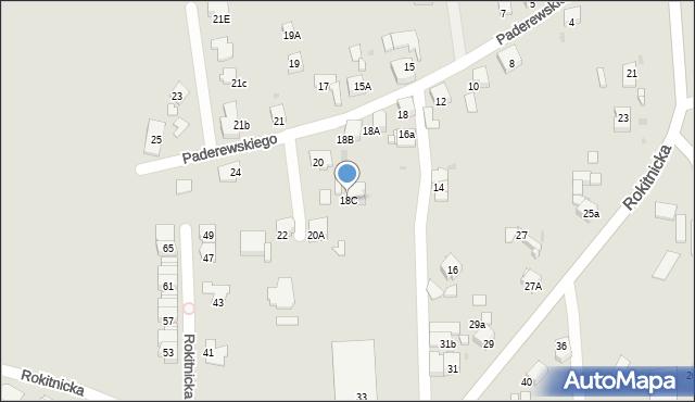 Bytom, Paderewskiego Ignacego Jana, 18C, mapa Bytomia
