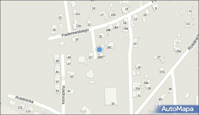 Bytom, Paderewskiego Ignacego Jana, 20A, mapa Bytomia